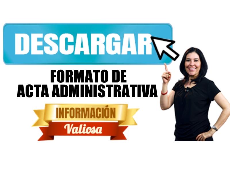 Descarga Acta Administratvia